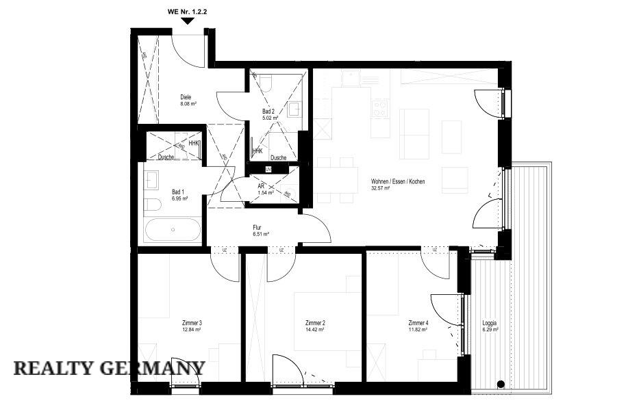 4 room new home in Mettmann, 106 m², photo #6, listing #78742272